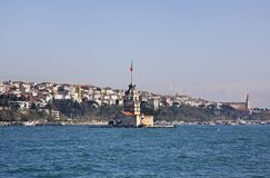 Maiden's Tower (Leander's Tower) in Istanbul. Turkey Royalty Free Stock Photos