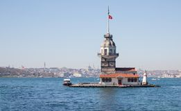 Maiden's Tower lighthouse in Istanbul Stock Photography