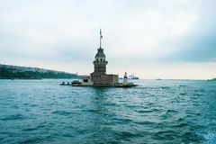 Maiden`s tower in istanbul royalty free stock photo
