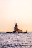 Maiden's Tower at sunset in Istanbul. Travel Turkey. Royalty Free Stock Images