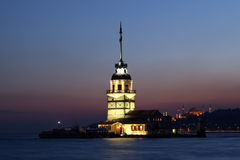 Maiden Tower. In Istanbul,turkey Royalty Free Stock Photos