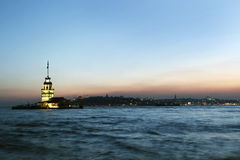 Maiden Tower. In sunset, Istanbul Royalty Free Stock Photos