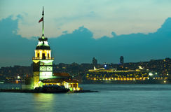 Maiden tower. At the istanbul turkey Stock Photos