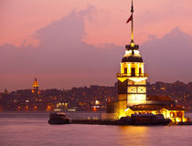 Maiden tower. At the istanbul turkey Stock Image