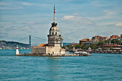 Maiden tower. At the istanbul turkey Stock Images