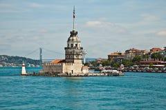 Maiden tower. At istanbul turkey Stock Photos