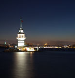 Maiden tower 4. Maiden tower at the night istanbul turkey Stock Images