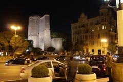 Old town district, city of Baku, the capital of Azerbaijan, May 2014 stock image