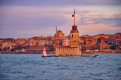 Maiden Tower Istanbul stock images
