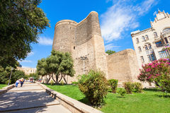 Maiden Tower in Baku. The Maiden Tower also known as Giz Galasi, located in the Old City in Baku, Azerbaijan. Maiden Tower was built in the 12th century as part Stock Photo