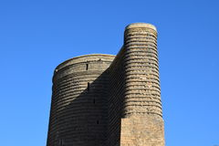 Ancient architecture,Maiden's Tower ,Baku ,Azerbaijan stock photo