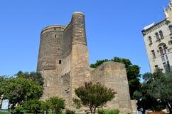 Maiden tower in Baku, Azerbaijan stock photos