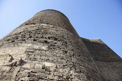 Maiden Tower From Low Angle Royalty Free Stock Images