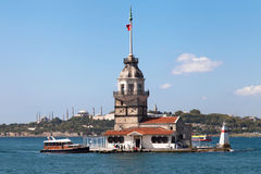 Maiden Tower, Blue Mosque and Hagia Sophia Royalty Free Stock Photography