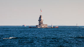 Maiden Tower From Boat Stock Photo