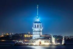 Maiden Tower in Bosphorus strait Istanbul, Turkey Royalty Free Stock Photo
