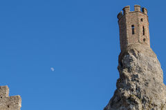 Maiden Tower at Castle Devin, Slovakia Stock Image