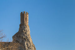Maiden Tower at Castle Devin, Slovakia Royalty Free Stock Photos