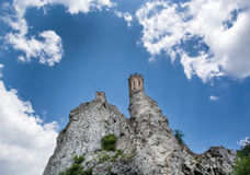 Maiden tower of Devin castle, Slovakia Royalty Free Stock Photo