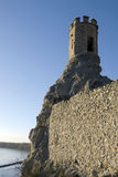 The Maiden Tower and east wall of Devin castle Royalty Free Stock Images