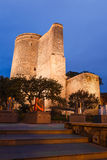 Maiden Tower in the evening Stock Photos