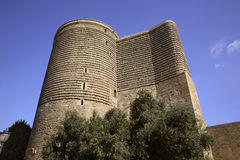 Maiden Tower (Giz Galasi) in Baku. Azerbaijan Royalty Free Stock Photo