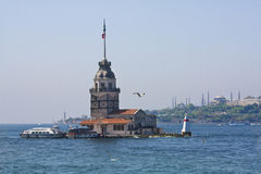 Maiden Tower in Istanbul Stock Photo