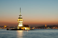 Maiden Tower in istanbul Stock Photography