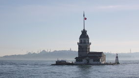 Maiden tower in Istanbul. Turkey stock video