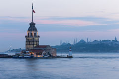 Maiden Tower in Istanbul, Turkey Stock Photography