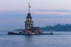 Maiden Tower in Istanbul, Turkey Stock Image