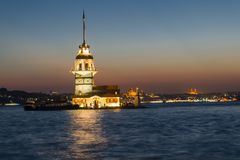 Maiden Tower , Istanbul , Turkey. , royalty free stock photo