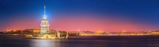 Maiden Tower or Kiz Kulesi Istanbul stock images