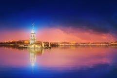 Maiden Tower or Kiz Kulesi Istanbul Stock Photo