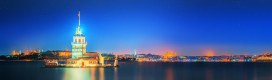 Maiden Tower or Kiz Kulesi Istanbul stock photography