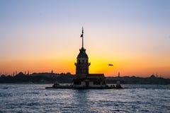Maiden Tower or  Kiz Kulesi Istanbul, Turkey Royalty Free Stock Image