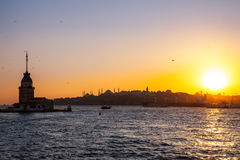 Maiden Tower or  Kiz Kulesi Istanbul, Turkey Royalty Free Stock Image
