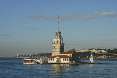 Maiden tower-light house-mill Stock Image