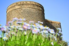 Baku.Azerbaijan.The Maiden Tower Gyz galasy is an ancient fort royalty free stock image