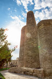 The Maiden Tower in old city of Baku, Azerbaijan Royalty Free Stock Photography