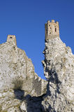 The Maiden Tower with southern rock of Devin castle Stock Photography