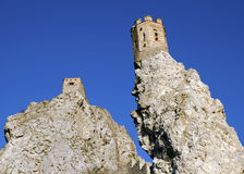 The Maiden Tower with southern rock of Devin castle Royalty Free Stock Images