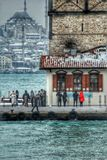 Maiden tower. And Suleymaniye istanbul Royalty Free Stock Images