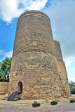 The Maiden Tower. 12th-century monument in the Old City, Baku, Azerbaijan stock image