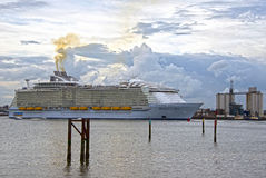 Maiden Voyage of Harmony of the Seas. Harmony of the Seas Maiden Voyage Southhampton Waters Stock Image