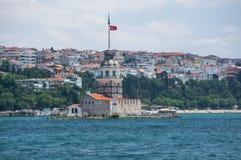 Maiden& x27; s塔在伊斯坦布尔 库存图片