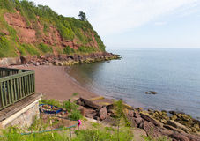 Maidencombe beach and cove Devon England royalty free stock photo