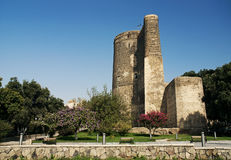 Maidens tower in baku azerbaijan Royalty Free Stock Photography