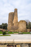 Maidens tower in Baku city Royalty Free Stock Images