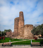 Maidens tower in Baku cty Royalty Free Stock Photo